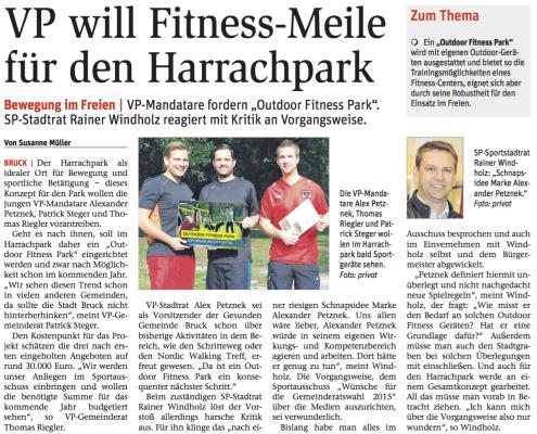 Alexander Petznek, Thomas Rieger und Patrick Steger Fitness Park