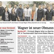 Wagner ist neuer Obmann. Mit dabei waren Nationalrätin Eva Himmelbauer, Lukas Michlmayr, Paul Strohmayer, Christoph Wagner, Alexander Petznek, Lisa Stadtherr, Robert Maurer