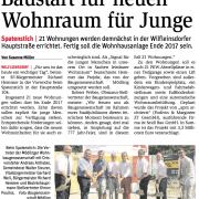 GR Walter Steurer beim Spatenstich für neuen Wohnraum in Wilfleinsdorf.