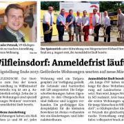 Der jahrelange Einsatz für den Bau neuer Wohnungen in Wilfleinsdorf von der VP Bruck mit STR Alexander Petznek haben Wirkung gezeigt.