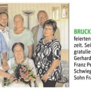 Maria und Kurt Pitzal feierten ihre Diamantene Hochzeit, GR Franz Perger überbrachte die besten Glückwünsche.