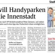 STR Peter Zemann und STR Alexander Petznek fordern Handyparken für die Brucker Innenstadt.