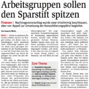 Die Stadt Bruck muss den Sparstift ansetzen.
