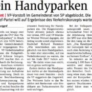 Die SP Bruck blockierte den Vorstoß der VP Bruck, Handyparken in Bruck zu realisieren.