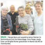 Der Seniorenbund feierte mit seinen Mitgliedern die Geburtstage.