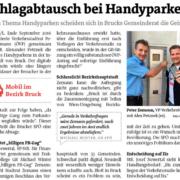 Die SPÖ blockiert den Vorschlag Handyparken von STR Peter Zemann.