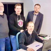 Co-Working Space eröffnet in Bruck an der Leitha. Mit Alexander Remesch, Alexander Petznek, Thomas Petzel, Ronald Altmann