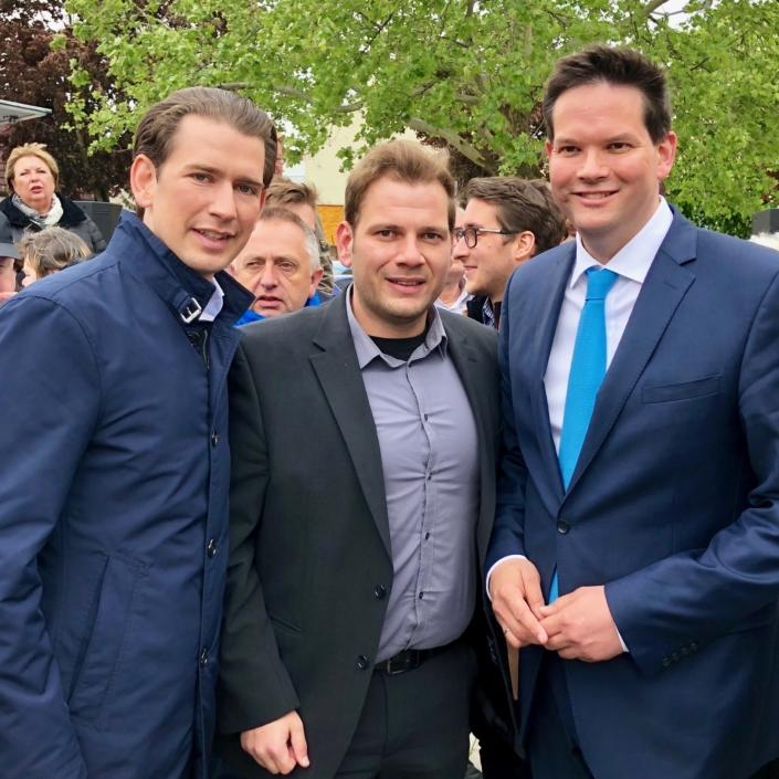 alexander petznek mit Kanzler Sebastian Kurz